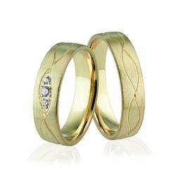Obrączki ślubne z brylantami - au-925