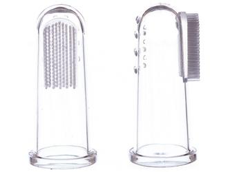 Szczoteczka silikonowa na palec do czyszczenia ząbków 2 szt. stage 1