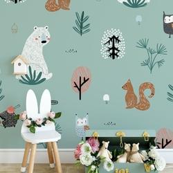 Tapeta dla dzieci - minty forest , rodzaj - tapeta flizelinowa