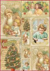 Papier ryżowy Stamperia A4 Obrazki Święta