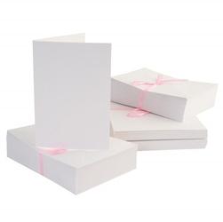 Kartka A6 - zestaw 10 sztuk białe - BIA