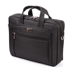Czarna elegancka torba na laptopa