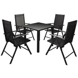 Zestaw ogrodowy stół + 4 krzesła capri czarny