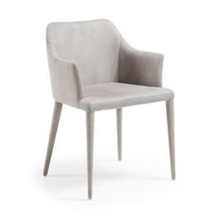 Krzesło erida z podłokietnikami szare