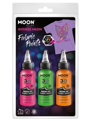 Zestaw farb do tkanin 3x30ml neon uv 38583