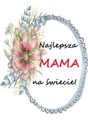 Najlepsza mama - plakat wymiar do wyboru: 21x29,7 cm