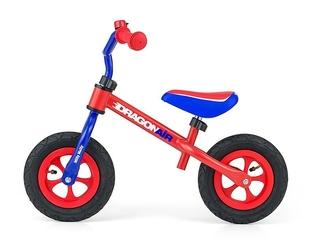 Milly mally dragon air red rowerek biegowy pompowane koła + dzwonek + prezent 3d
