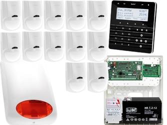 Zestaw alarmowy satel integra 128-wrl manipulator sensoryczny int-ksg-bsb 12x czujka lc-100 sygnalizator zewnetrzny spl-5010 r powiadomienie gsm