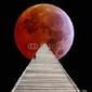 Obraz na płótnie canvas dwuczęściowy dyptyk spacer po księżycu