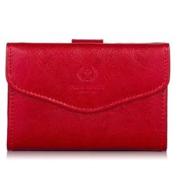 Portfel damski skórzany czerwony paolo peruzzi l-05-pp - czerwony