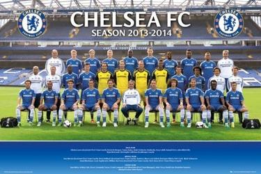 Chelsea 1314 zdjęcie drużynowe - plakat