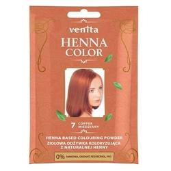 Venita henna color ziołowa odżywka koloryzująca z naturalnej henny 7 miedziany