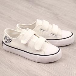Trampki niskie dziecięce na rzepy białe big star ff374061 - biały