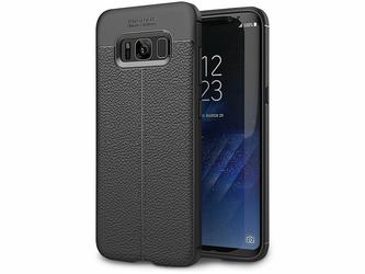 Etui pancerne Alogy leather case Galaxy S8+ Plus czarne +Szkło
