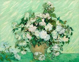 Roses 1890, vincent van gogh - plakat