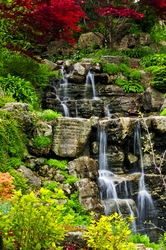Leśny wodospad - plakat wymiar do wyboru: 60x80 cm