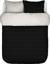 Pościel myken czarna 200 x 200 cm z 2 poszewkami na poduszki 80 x 80 cm