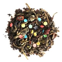 Herbata urodzinowa o smaku truskawkowym - mieszanka herbaty czarnej i zielonej + konfetti 200g