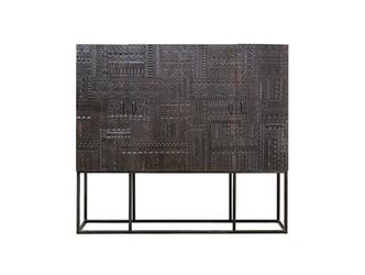 Drewniana wysoka komoda chichita  w stylu orientalnym  wys. 160 cm
