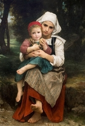 Reprodukcja breton brother and sister, william-adolphe bouguereau