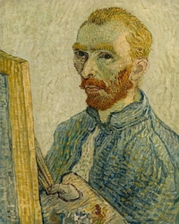 Portrait of vincent van gogh, vincent van gogh - plakat wymiar do wyboru: 40x50 cm