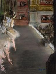 Dancers at the old opera house, edgar degas - plakat