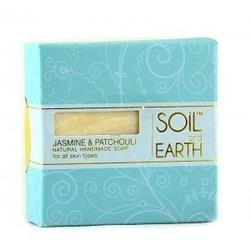 Naturalne mydło jaśmin i paczula, 100g, soil  earth - cera wrażliwa, naczynkowa, atopowa