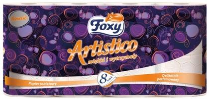 Foxy artistico, brzoskwiniowy papier toaletowy, 2 warstwy, 8 rolek