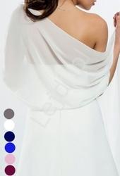 Szal z szyfonu, idealny do sukien wieczorowych - szal szyfonowy 6 kolorów