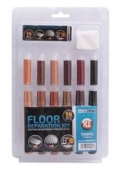 Zestaw do naprawy podłóg: markery+wosk