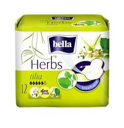 Bella herbs kwiat lipy, podpaski higieniczne, 12 sztuk