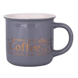 Kubek do kawy i herbaty porcelanowy altom design szary 300 ml, dekoracja coffee