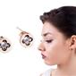 Kolczyki złote kryształek stal nierdzewna 316l - kryształek