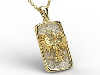 Wisiorek z żółtego i białego złota z orłem bpw-25zb