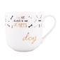Kubek do kawy i herbaty porcelanowy altom design dog  pies 400 ml z wytłaczaną złotą dekoracją