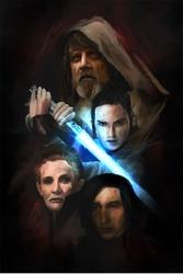 Star wars gwiezdne wojny - the last jedi - plakat premium wymiar do wyboru: 70x100 cm