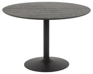 Stół na jednej nodze ibiza 110 czarny jesion
