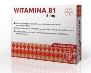 Witamina b1 3mg x 50 tabletek