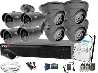 Zestaw monitoring h265+ keeyo 4x tuba 4x kopułka full hd 1tb