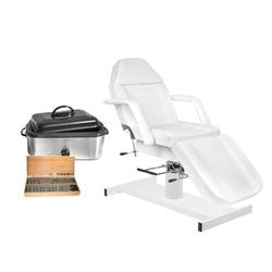 Zestaw fotel 210 + podgrzewacz i kamienie 18 litrów kompl.