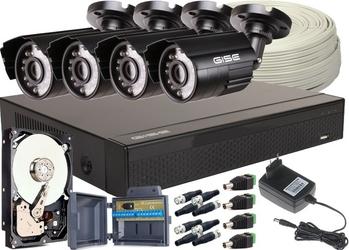 Zestaw 4w1, 4x kamera 5mpxir20, rejestrator 4ch + dysk 2tb - szybka dostawa lub możliwość odbioru w 39 miastach