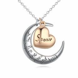 NASZYJNIK na srebrnym łańcuszku ZŁOTE SERCE - GOLD