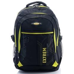 Pojemny plecak sportowy z kieszonką na laptopa bag street czarnożółty