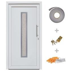 Vidaxl drzwi wejściowe zewnętrzne, białe, 108 x 200 cm