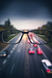 Okulary - plakat premium wymiar do wyboru: 60x80 cm