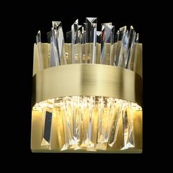 Kinkiet stalowy led, kryształowe sztabki, adelard mw-light crystal 642024701