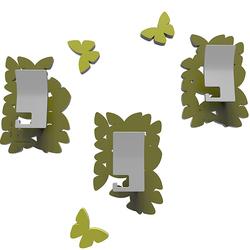 Wieszaki ścienne dekoracyjne Butterflies CalleaDesign oliwkowo-zielone 50-13-4-54