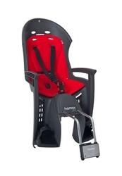 Fotelik rowerowy hamax smiley ciemnoszary, czerwona wyściółka