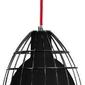 Lampa frame l klosz czarny połysk kosz czarny przewód czerwony