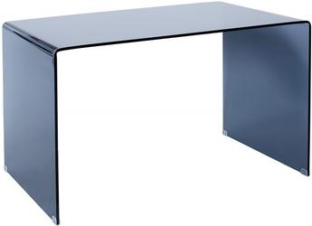 Biurko szklane Ebbe 120 cm nowoczesne dymione